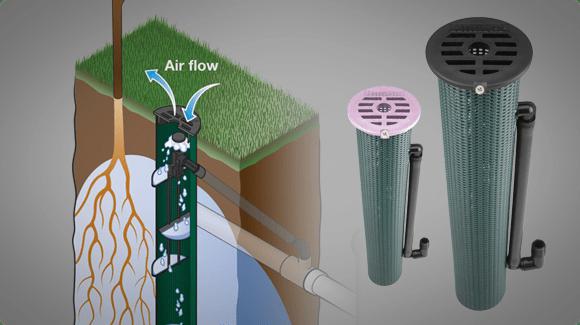 Система почвенного полива питает корни растений кислородом