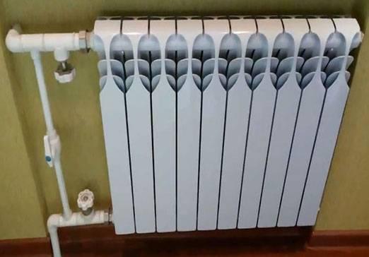 объем секции алюминиевого радиатора