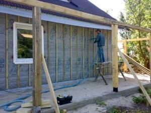 Утепление деревянных стен снаружи