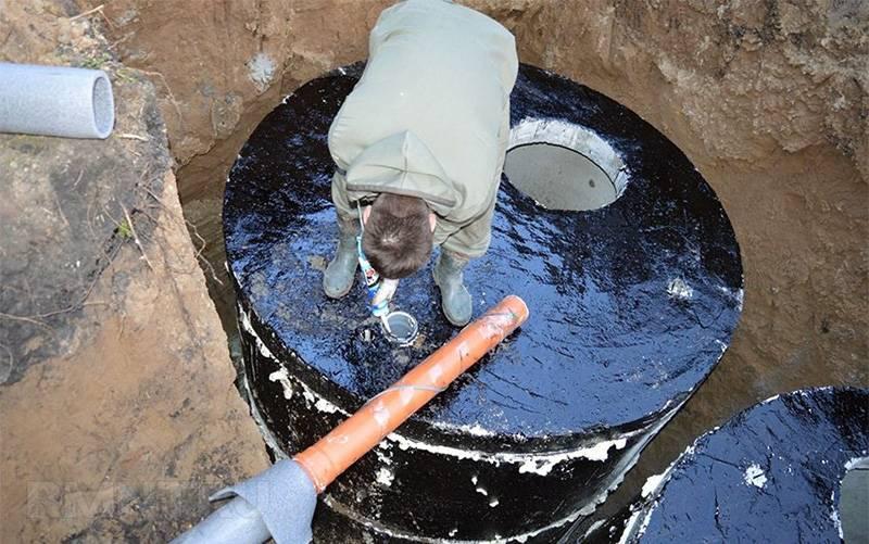 Гидроизоляция бетонного кольца