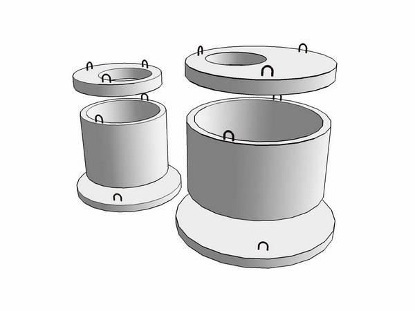 бетонные кольца с дном и крышкой