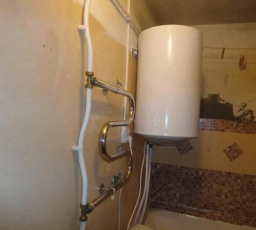 Разводка воды в ванной