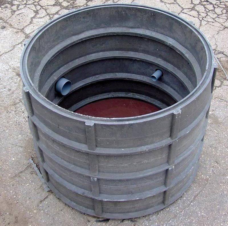 Пластиковую трубу большого диаметра для колодца собирают из составных элементов
