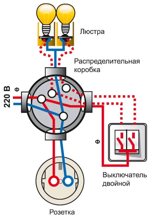 Схема люстры