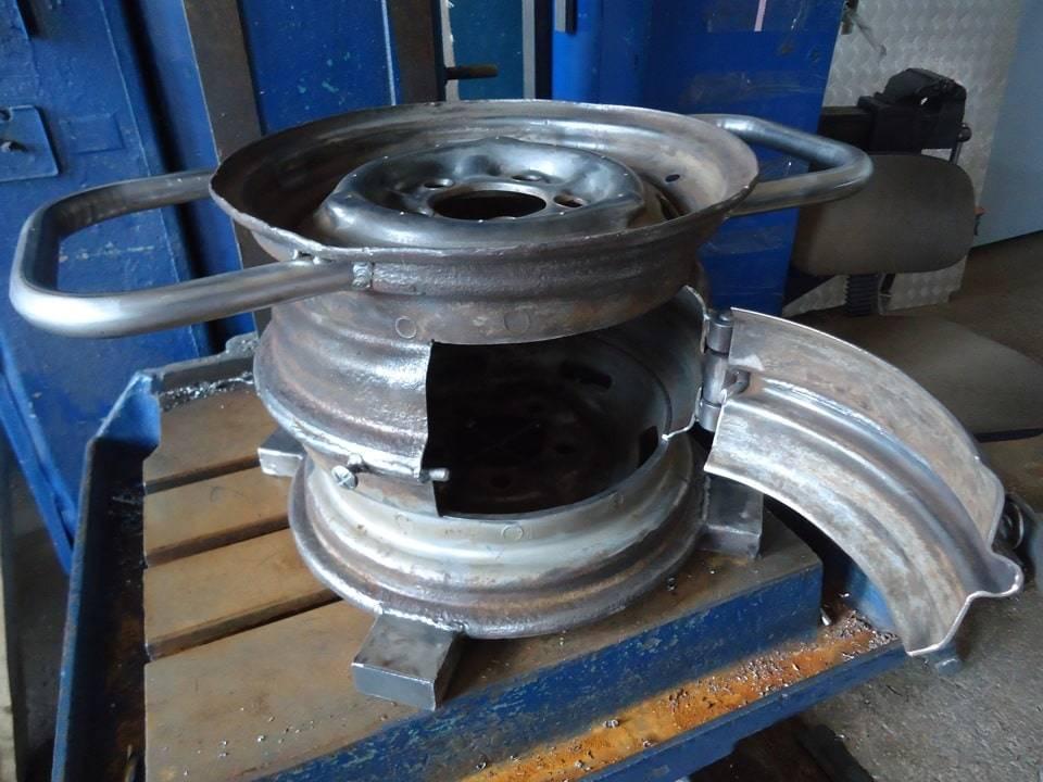 Печка из дисков под казан