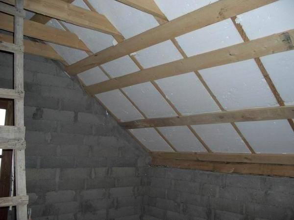 Утепление крыши дома своими руками