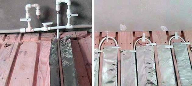 Водяной теплый пол без стяжки под ламинат