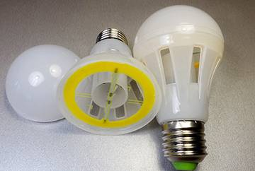 Таблица светодиодных ламп