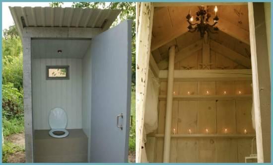 Размеры туалета на даче своими руками