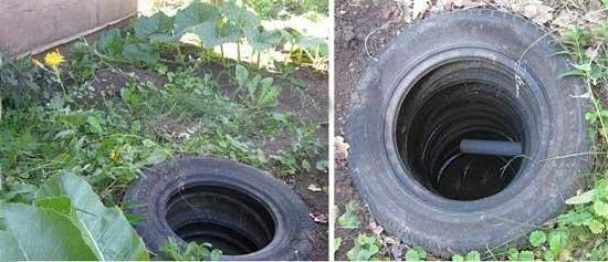 покрышки-отходы-канализация-яма