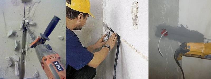 Работы по монтажу электропроводки