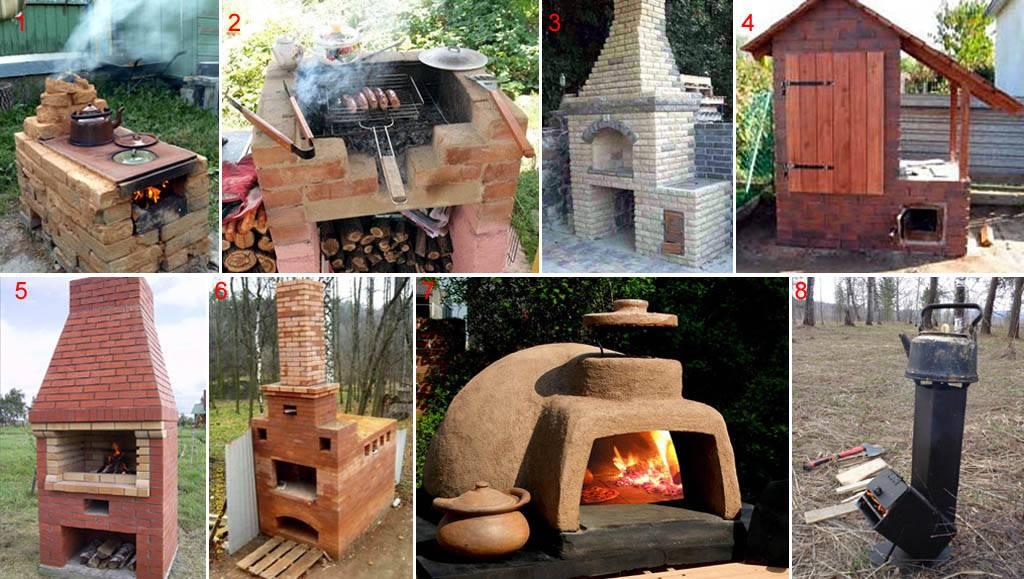 Уличная печка для дачи