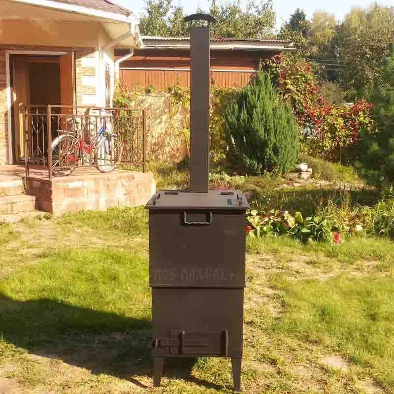Садовая печь для сжигания мусора на даче