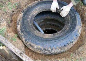 Как сделать колодец из шин