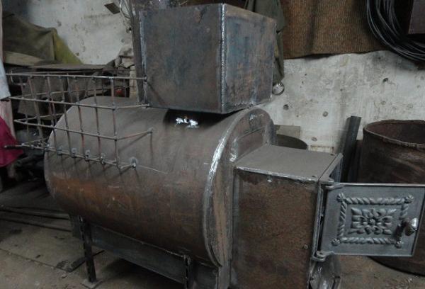 Банная печь из трубы