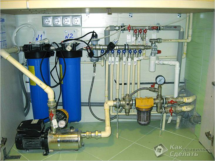 Подводка воды из скважины в дом