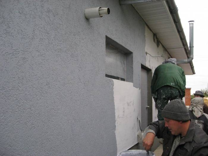 Монтаж пенопласта на фасад