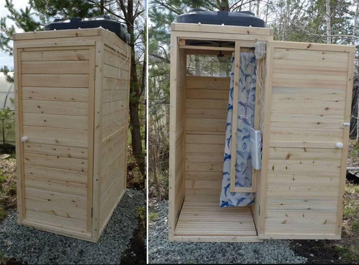 Душевая кабина для дачи с подогревом воды