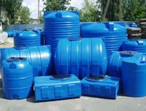 Пластиковый бак для питьевой воды