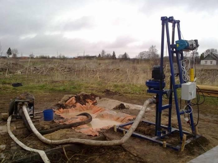 Самодельная буровая установка на воду