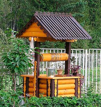 Как украсить колодец на даче