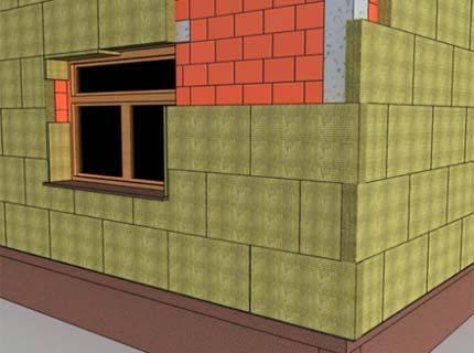 Устройство утепления фасада