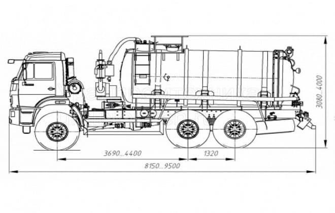 Высота ассенизаторской машины
