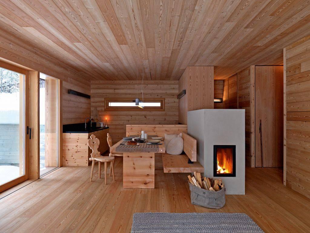 Проект однокомнатного дома с печью