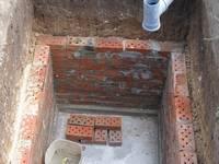 Установка жби колец под канализацию