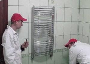 Установка полотенцесушителя своими руками