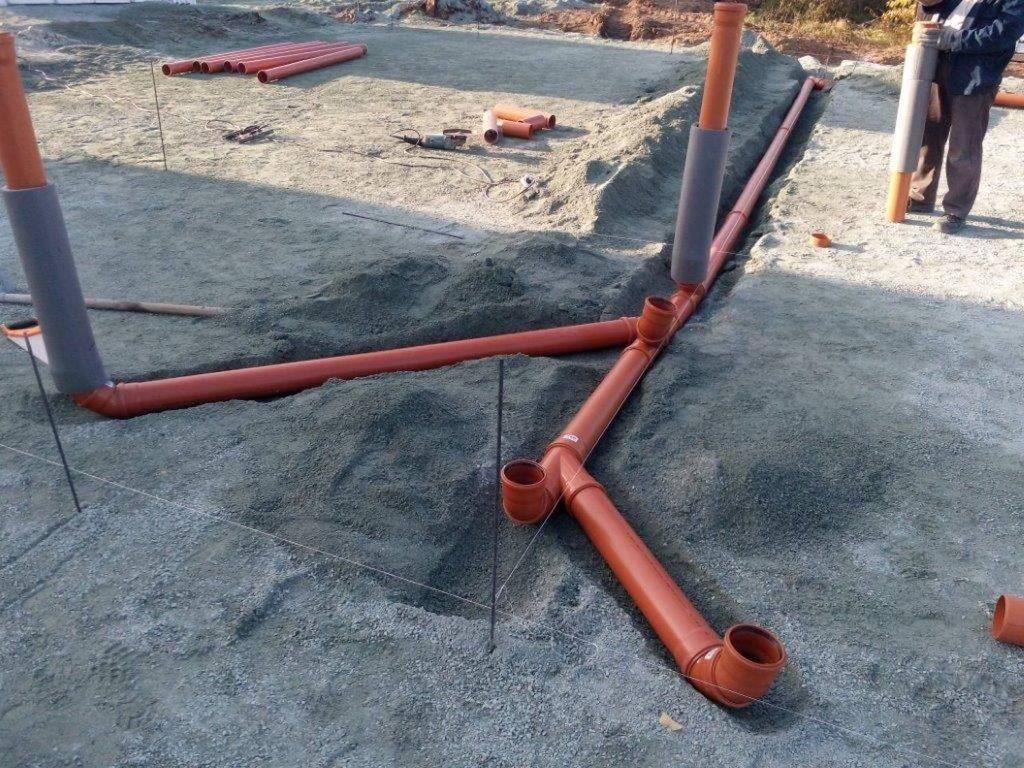 Фундамент и канализация