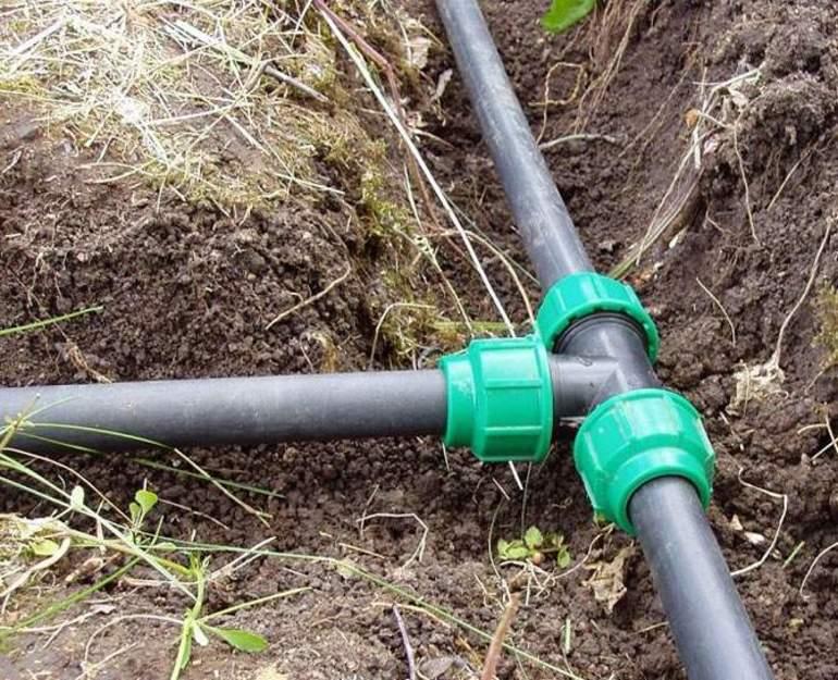 Как собрать водопровод из труб пнд