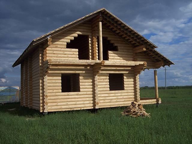 Утепление стен бревенчатого дома снаружи
