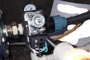Подключение реле давления к гидроаккумулятору