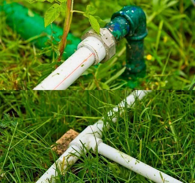 Разводка воды по участку для полива