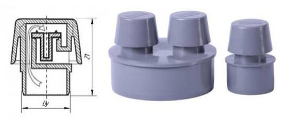 Вакуумный клапан для канализации 110 мм