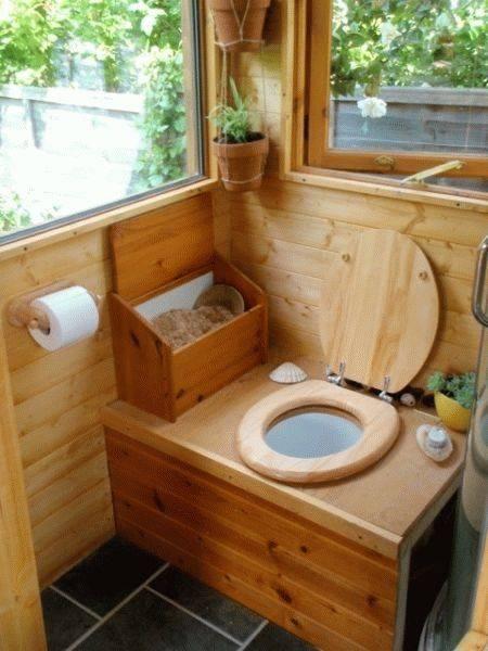 Деревенский туалет своими руками