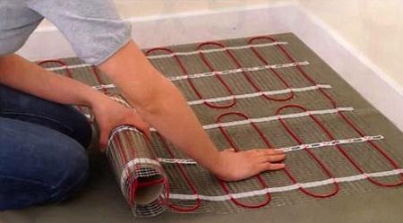 Электрический теплый пол в ванной