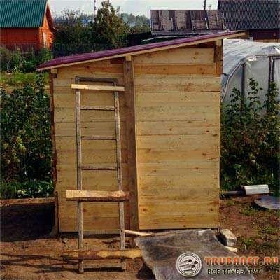 Чертёж туалета на даче с размерами